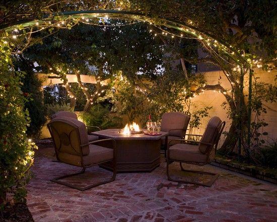 Fireside garden patio