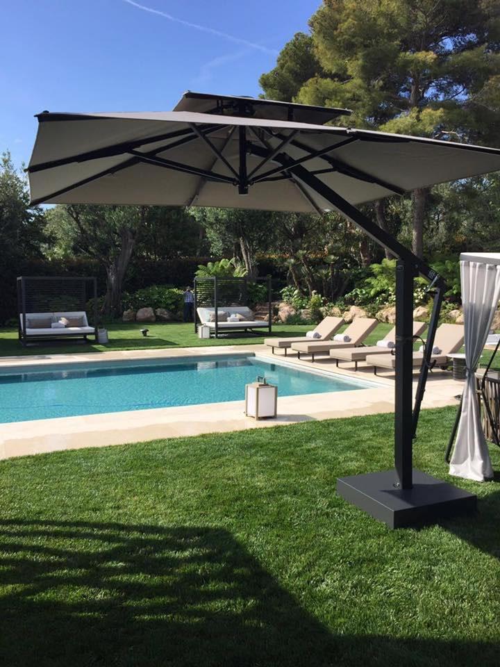 Commercial Pool Umbrellas - cantilever umbrella